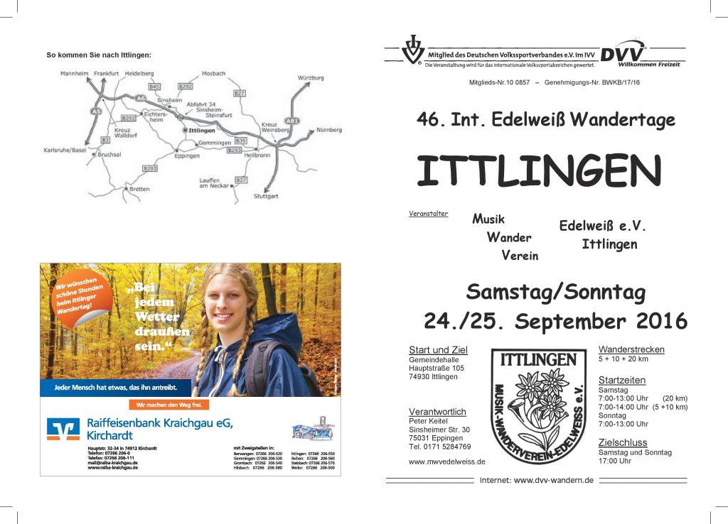 Ittlingen - 46. Int. Edelweiß-Wandertage @ Ittlingen | Baden-Württemberg | Deutschland