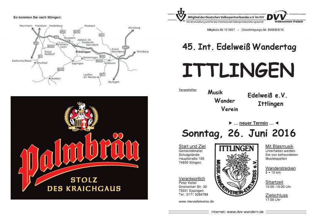 Ittlingen - 45. Int. Edelweiß-Wandertag @ Ittlingen | Baden-Württemberg | Deutschland