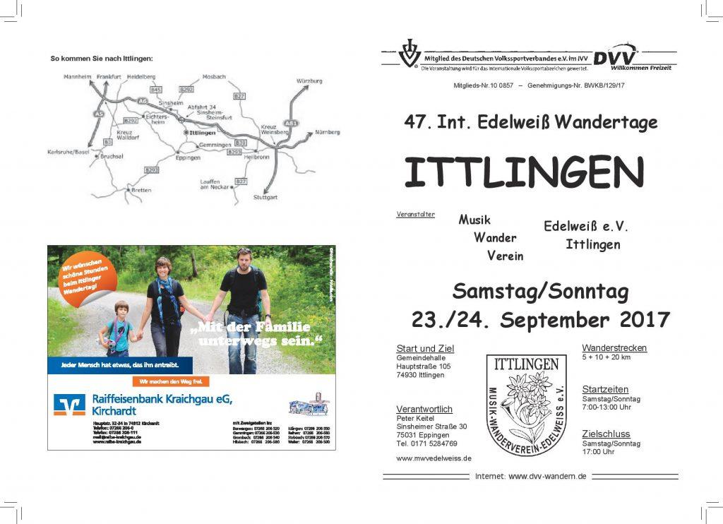 Ittlingen - 47. Int. Edelweiß-Wandertage